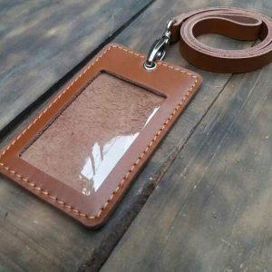 casing tempat id card kulit