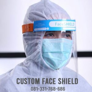 custom face shield instansi